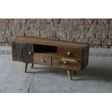 Little Tree Furniture Shimla Reclaimed 3 Drawer TV Unit