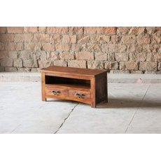Little Tree Furniture Rustica Reclaimed Small 2 Drawer TV Unit