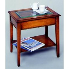 Bradley 827 Glass Top End Table