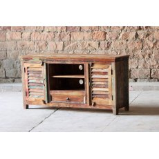 Little Tree Furniture Mary Rose Reclaimed 1 Drawer 2 Door TV Unit