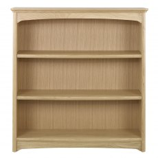 Nathan 8993 Shades Oak Mid Double Bookcase