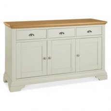 Bentley Designs Hampstead Soft Grey & Pale Oak Wide Sideboard