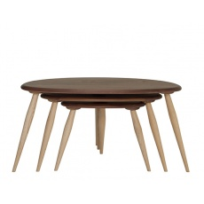 Ercol 3543 Originals Nest of Tables With Walnut Tops