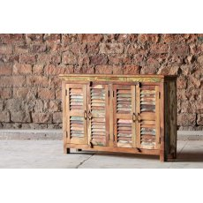 Little Tree Furniture Mary Rose Reclaimed 4 Door Sideboard