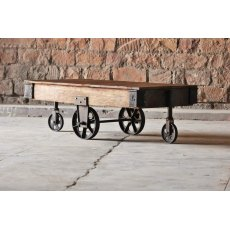 Little Tree Furniture Hyatt Industrial Coffee Table Cart