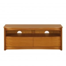 Nathan 5934 Shades Teak Shaped TV Unit with Drawers