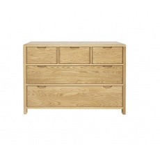 Ercol 1362 Bosco 5 Drawer Wide Chest