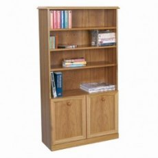 Sutcliffe Trafalgar 252 Bookcase with 2 Doors & 3 Shelves