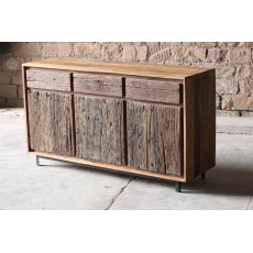 Little Tree Furniture Ashburnham Reclaimed Large 3 Door 3 Drawer Sideboard