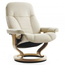 Stressless Consul Medium Chair With Classic Base (No stool)