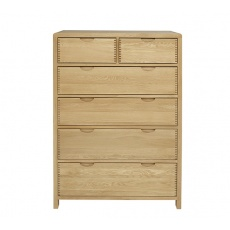 Ercol 1363 Bosco 6 Drawer Tall Wide Chest