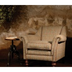 Tetrad Harris Tweed Dalmore Accent Chair - Option A (Tweed)