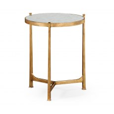 Jonathan Charles Eglomise & Gilded Iron Lamp Table (Medium)
