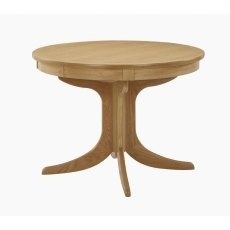 Nathan 2125 Shades Oak Circular Pedestal Dining Table