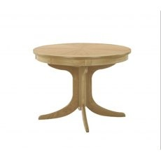 Nathan 2165 Shades Oak Circular Pedestal Dining Table with Sunburst Top