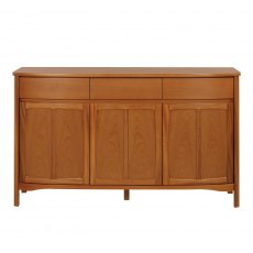 Nathan 1814 Shades Teak Shaped 3 Door Sideboard
