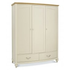 Bentley Designs Montreux Pale Oak & Antique White Triple Wardrobe