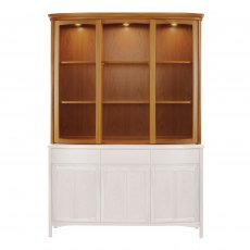 Nathan 4804 Shades Teak Shaped Glass Display Top Unit