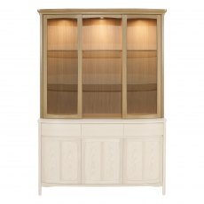 Nathan 4805 Shades Oak Shaped Glass Door Display Top Unit