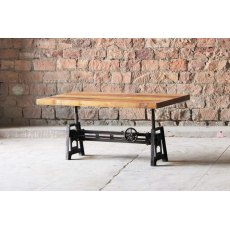 Little Tree Furniture Hyatt Fulton Industrial Height Adjustable Coffee / Dining Table