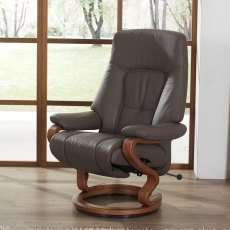 Himolla Zerostress Tanat Extra-Large Recliner with Integrated Footstool