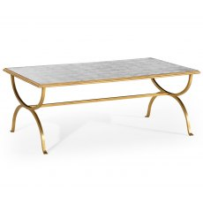 Jonathan Charles Eglomise & Gilded Iron Coffee Table