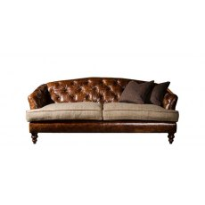 Tetrad Harris Tweed Dalmore Midi Sofa - Option B (Hide & Tweed)