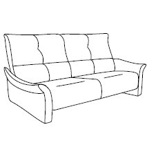 Cumuly by Himolla Brennand 3 Seater Fixed Sofa