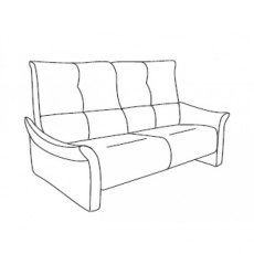 Cumuly by Himolla Brent 3 Seater Fixed  Sofa - 2 Seat Cushions
