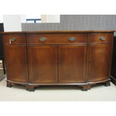 Bevan Funnell Mahogany Bow Fronted Sideboard