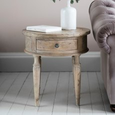 Hudson Mustique Round 1 Drawer Side Table