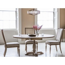 Hudson Mustique Round Extending Dining Table