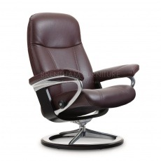 Stressless Consul Small Chair With Signature Base (No stool)