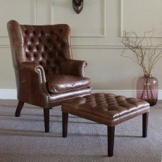 Tetrad Harris Tweed MacKenzie Chair Option H - All Leather