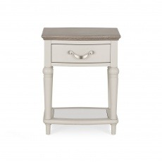Bentley Designs Montreux Grey Washed Oak & Soft Grey Lamp Table With Drawer