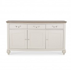 Bentley Designs Montreux Grey Washed Oak & Soft Grey Wide Sideboard