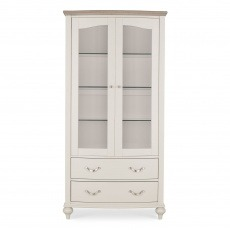 Bentley Designs Montreux Grey Washed Oak & Soft Grey Display Cabinet