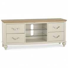 Bentley Designs Montreux Pale Oak & Antique White Entertainment Unit
