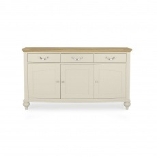 Bentley Designs Montreux Pale Oak & Antique White Wide Sideboard
