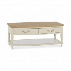 Bentley Designs Montreux Pale Oak & Antique White Coffee Table With Drawers
