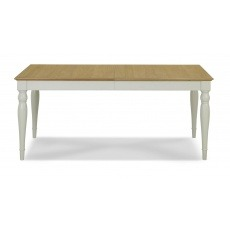 Bentley Designs Hampstead Soft Grey & Pale Oak 6-8 Extension Table - Rectangular