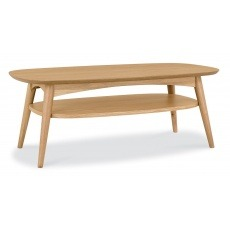 Bentley Designs Oslo Oak Coffee Table With Shelf
