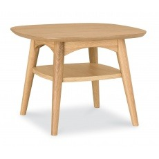 Bentley Designs Oslo Oak Lamp Table With Shelf