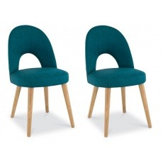 Bentley Designs Oslo Oak Upholstered Chair (Pair)