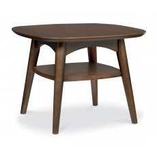 Bentley Designs Oslo Walnut Lamp Table With Shelf