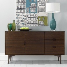 Bentley Designs Oslo Walnut Wide Sideboard