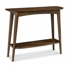 Bentley Designs Oslo Walnut Console Table With Shelf