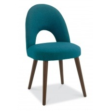 Bentley Designs Oslo Walnut Upholsered Chair (Pair)
