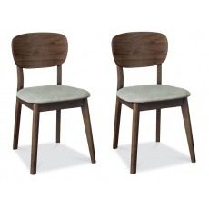 Bentley Designs Oslo Walnut Veneered Chair (Pair)