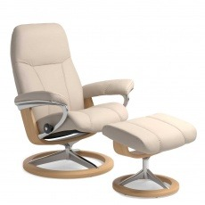 Stressless Consul Chair & Stool Signature Base - 3 Colours & 3 Sizes - Quick Ship!